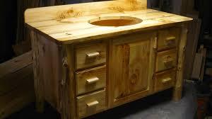 Bathroom Vanity Custom Made by Hand Made Knotty Pine Bathroom Vanity By Harry U0027s Cabin Furniture