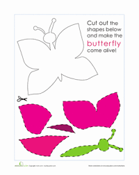 paper butterfly worksheet education com