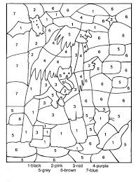 coloring pages winter color by number free winter color by