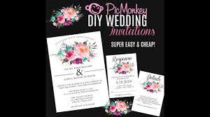 make your own wedding registry diy wedding invitations using pic monkey make your own wedding
