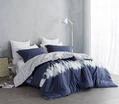 Tie Dye Bed Set Reversible College Designer Comforter Navy And White