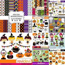 halloween scrapbook papers 71 kits digital halloween scrapbook png papel digital brinde r