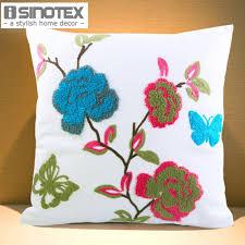 Pillow Decorative For Sofa by Canvas Decorative Cushion 40x40cm 15 7 U0027 U0027 Canvas Embroidery Print