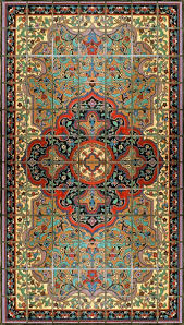 Rug Gold Persian Rug Small Gold 72 X 42
