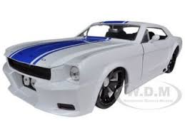 ford mustang gt white stripes 1965 ford mustang gt white with blue stripes 1 24 diecast model