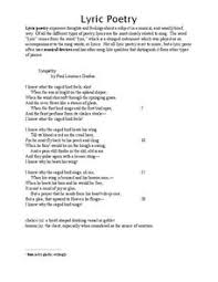 lyric poetry 6th 12th grade worksheet lesson planet