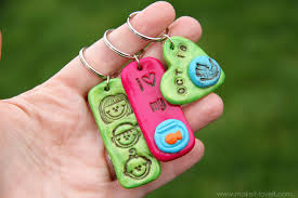 stamped clay jewelry and keychains and gift tags make it and