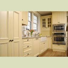 China Solid Wood Kitchen Cabinet China Cream Color Wood Cabinet - Kitchen cabinet from china