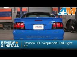 99 04 mustang sequential tail light kit 1996 2004 mustang raxiom led sequential tail light kit excluding 99