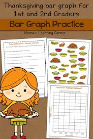 thanksgiving worksheets for 2nd grade bar graph worksheet thanksgiving mamas learning corner