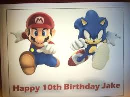 sonic cake topper hedgehog cake topper top ten sonic the cakes birthday express a