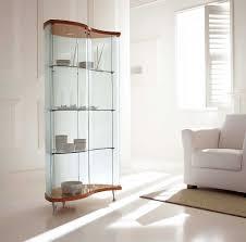 Dining Room Corner Cabinets Curio Cabinet Stirring Contemporary Curved Corner Curio Cabinet