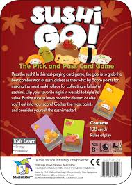 amazon com sushi go the pick and pass card game toys u0026 games