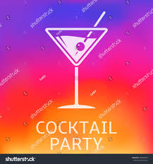 cocktail party poster stock vector 503806243 shutterstock