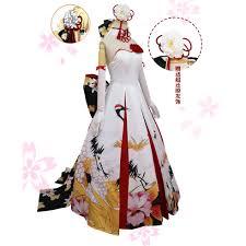 halloween wedding costumes fate stay night saber cosplay costume saber wedding dress