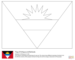 flag of belize coloring page within barbados coloring page eson me