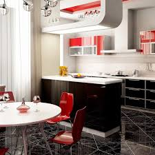 awesome grey and red kitchen designs taste