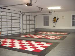 parking garage clearance ideas great garage design with race deck floor tile hot red and white checkered