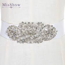 bridal belt aliexpress buy high quality handmade rhinestones wedding