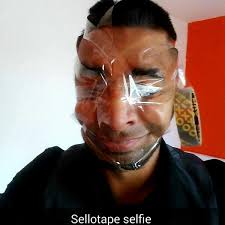 New Meme Face - sellotapeselfies is a hilarious new meme that involves you