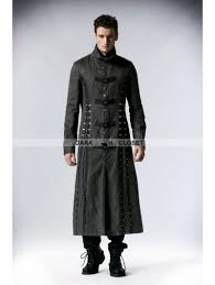 fashion for heavy men punk rave gray heavy metal vintage gothic steunk coat for men