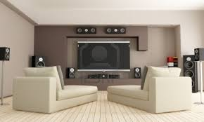 Living Room Home Theater Throughout Design Ideas - Living room home theater design