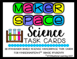 Challenge Science Makerspace Science Stem Challenge Task Cards Kindergarten 2nd Grade