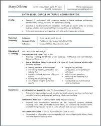 Resume Basics by Dba Resume For 2 Year Experience Free Resume Example And Writing