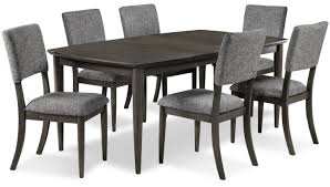 mary jane 7 piece dining room set grey leon s 7 piece dining room set grey hover to zoom