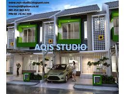 desain rumah lebar 6 meter aqis studio jasa desain rumah online jasa arsitek online desain