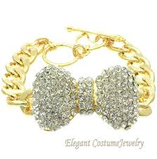 crystal necklace ebay images Costume necklace ebay big wrist chunky crystal bow gold chain jpg