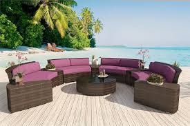 Round Outdoor Sofa Alexandra Patio Furniture Round Outdoor Wicker Sectional Sofa