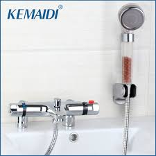 popular thermostatic bath tap buy cheap thermostatic bath tap lots deck mounted bath shower ceramic thermostatic faucets valve bathroom shower water thermostatic control valve mixer faucet