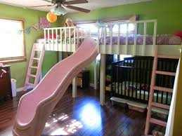 bbb diy double loft beds with slide yo kids bedroom tutorials