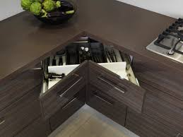 cool black color wooden kitchen corner cabinets featuring l shape adorable beige color furniture awesome corner kitchen cabinets