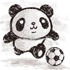 cute panda playing soccer tattoo design photo 1 photo