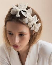 flower headpiece half bougainvillea branch tami bar lev