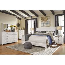 King Sleigh Bedroom Sets by Bedroom Sets Willowton B267 6 Pc King Sleigh Bedroom Set At