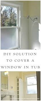 Bathroom Shower Window Solution To The Large Window In The Shower Simple Diy Cover