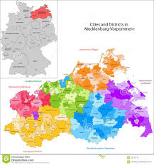 Map Of Germany Cities state of germany mecklenburg vorpommern stock images image