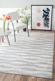 Gray And White Area Rug Mercury Row Lada Abstract Waves Gray White Area Rug Reviews