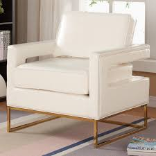 White Leather Accent Chair Meridian Furniture 512white Amelia White Leather Accent Chair On
