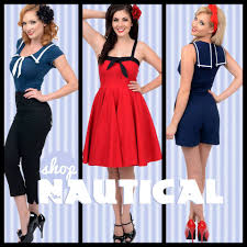 1940s 1950s sailor patriotic 4th of july dresses