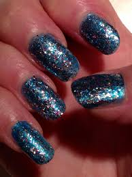 beautiful blue glitter nails how to nail polish style tutorial