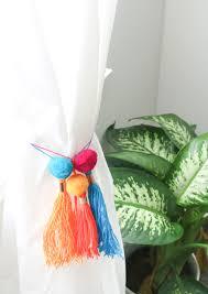 a kailo chic life craft it copper pom pom tassel curtain ties