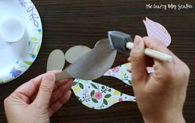 Hanging Paper Bird Decorations How To Make A Hanging Bird Garland The Crafty Blog Stalker