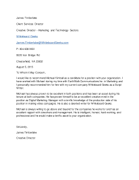 letter of recommendation james timberlake