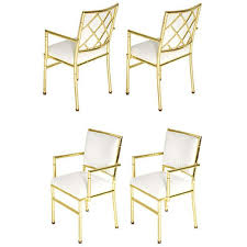 Dining Chair Set Of 4 Brass Bamboo Dining Chairs Set Of 4 At 1stdibs
