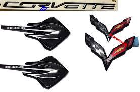 2014 corvette stingray emblem c7 corvette carbon flash metallic emblem package premium quality