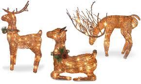 lighted rattan reindeer groupon goods